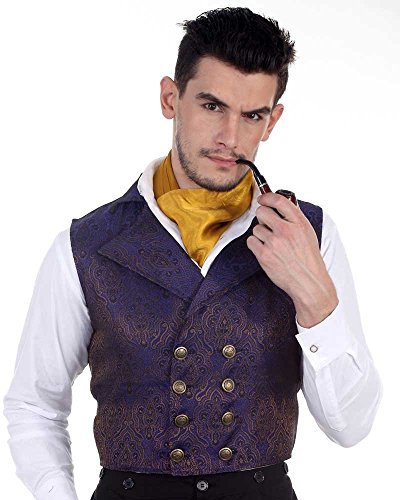 Aristocrat Costume Mens (Steampunk Victorian Costume Aristocrat Vest Jacket (medium))