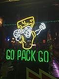 Urby™ 24''x20'' Sports Teams Go_Pack_Go Custom Neon Sign Beer Bar Pub Neon Light 3-Year Warranty-Fantastic Artwork! S42