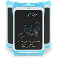 Richgv LCD Writing Tablet with Pen, 11 Inch Colorful Electronic Drawing Board, Digital Ewriter Graphics Tablets Portable Glow Pad with Memory Lock Kids Toys Suitable for Home School Preschool(Blue)