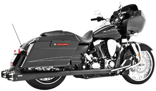 """Freedom HD00263 Exhaust (American Outlaw Slip-On Black With Black Tip 4.5""""),1 Pack"""