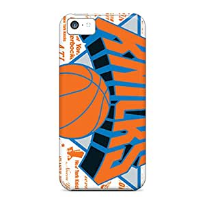 Shockproof Hard Phone Cases For Iphone 5c With Unique Design Attractive New York Knicks Image JonathanMaedel
