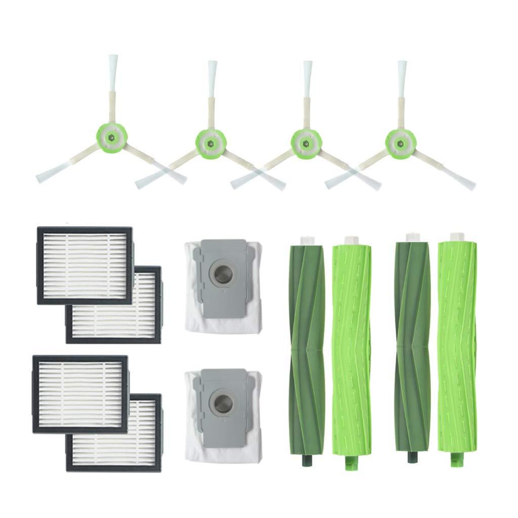 IOTdou for IRobot Roomba i7 i7+/i7 Plus E5 E6 E7 Side Brush&Hepa Filters Bristle Brush Vacuum Cleaner Accessories 12pc