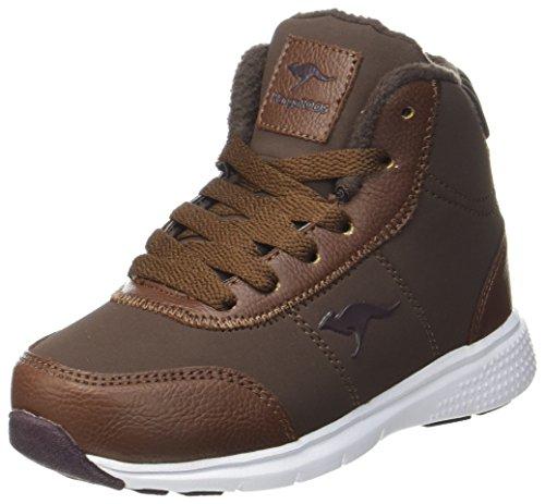 KangaROOS Unisex-Kinder Navi Hohe Sneaker Braun (Coffee)