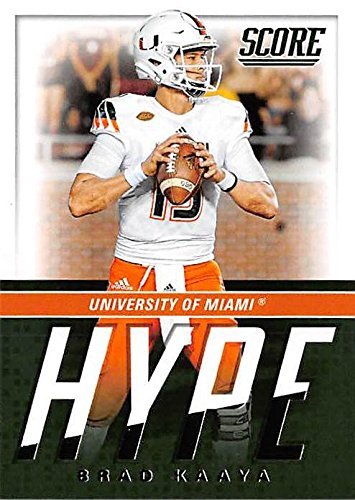 Brad Kaaya Football Card University Of Miami Hurricanes 2017 Score