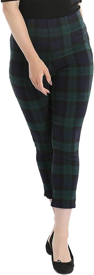1950s Pants & Jeans- High Waist, Wide Leg, Capri, Pedal Pushers Hell Bunny Evelyn Cigarette Trousers 50s Tartan £33.99 AT vintagedancer.com