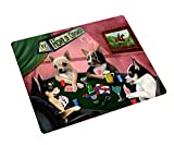 Chihuahua Dogs Playing Poker Tempered Cutting Board