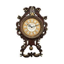 High Quality Antique Linseng 23X14 Wooden Pendulum Wall Clock ZP809-ITE