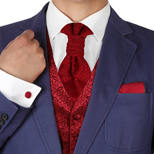 atterned Handmade Vests Cufflinks Hanky Ascot Ties ()