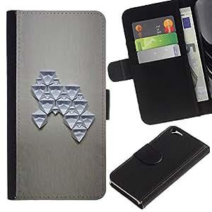 Arte abstracto Estructura Cifras- la tarjeta de Crédito Slots PU Funda de cuero Monedero caso cubierta de piel Para Apple (4.7 inches!!!) iPhone 6 / 6S