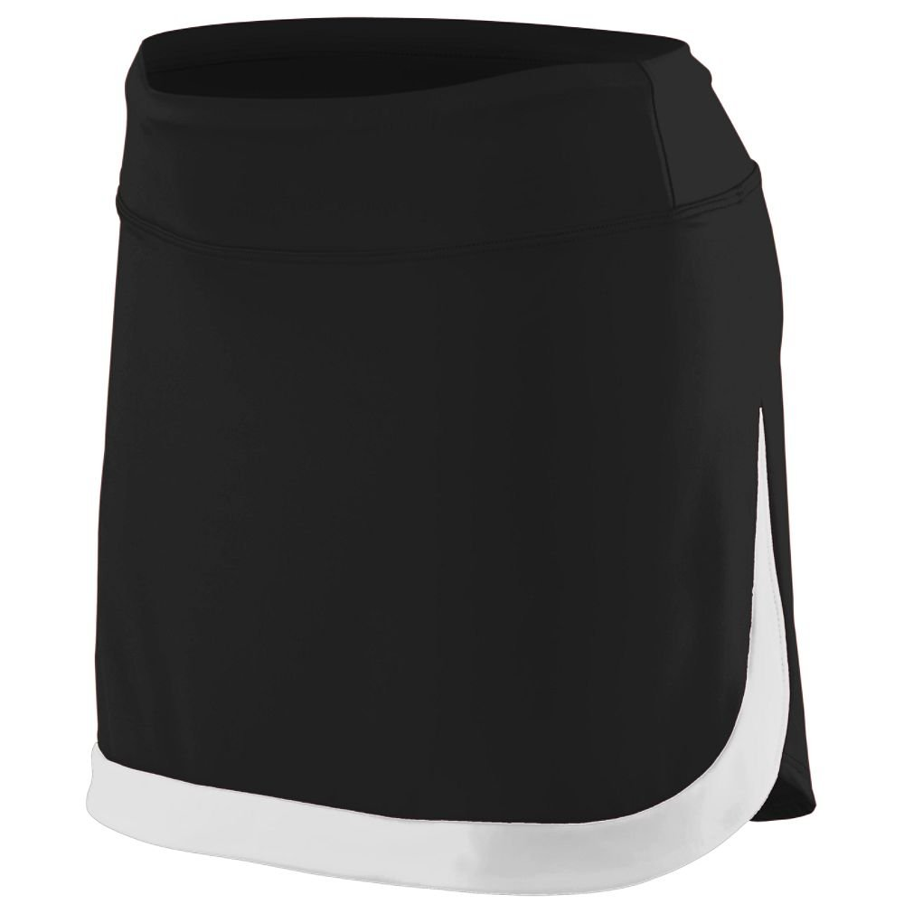 Augusta Sportswear Women's Action Color Block Skort M Black/White