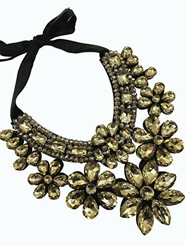 Dorchid Women Carnival Necklace Rhinestone Short Sweater Jewelry Prom GOLD ()