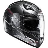 HJC Moto Casco, TR300Cetus mc1sf, Negro/Rojo, tamaño L