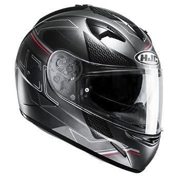 HJC TR1 Cetus - Casco de moto, talla XL, color negro y rojo