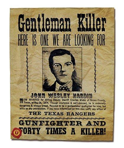 amazon com john wesley hardin the gentleman killer wanted poster