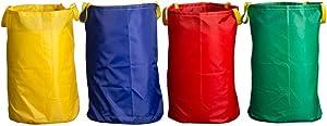 Potato Sack Race Bags 28x40'', Colorful Jumping Pocket Parent-Child Adult Children Sense Sports Game Equipment Party Accessory(Set of 4)
