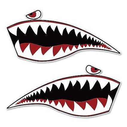 Warhawk Shark Tiger Vinyl Sticker