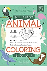 My First Animal Coloring Book for Kids Ages 4-8: Learn Fun Facts, Practice Handwriting and Color Hand Drawn Illustrations | Preschool, Kindergarten ... (Educational Coloring Books for Kids) Paperback
