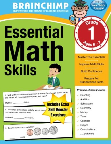 Essential Math Skills : 1st Grade Workbook For Ages 6-7