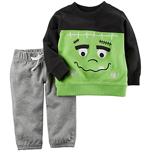 Halloween Clothes Boys (Carter's Baby 2 Piece Frankenstein Top And Pants Set 18)