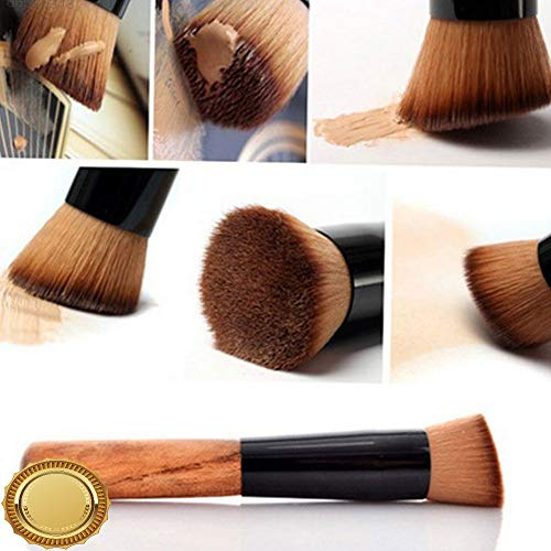 Gatton BF83 Wood Color Cosmetic Brush Face Flat Powder Foundation Blusher Beauty Tools | Style MKPBRUSH-21181665