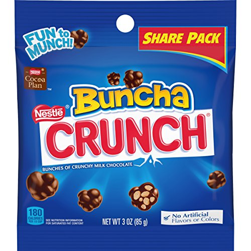 Crunch Candy Pieces Made of Milk Chocolate