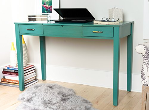 Hives and Honey 6008-035 Ainsley Vanity Desk, Turquoise