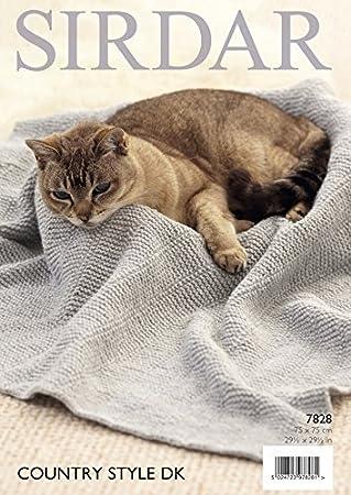 Sirdar Fish Pattern & Strumpfband Stitch Katze Decken Country Style ...