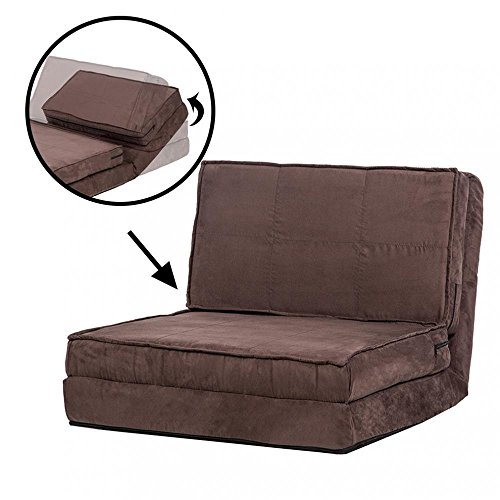 Fold Down Chair Flip Out Lounger Convertible Sleeper Bed Couch Game Dorm Bestmassage by BMS