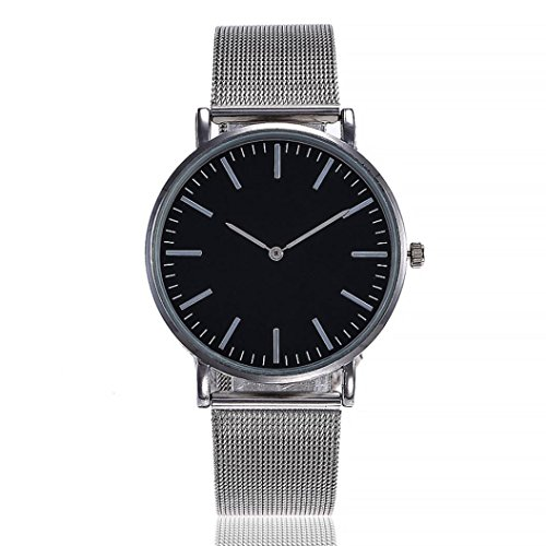 - Swyss Watches for Women, Casual Big Face Dial Stainless Steel Mesh Belt Fashion Quartz Analog Wrist Watch (C)