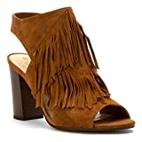 Sam Edelman Women's Elaine Heeled Sandal, Saddle, 8 M US