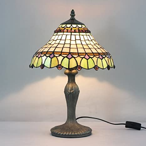 Tiffany 12-inch stained glass table lamp bedroom lamp ...