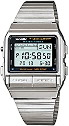 Casio Men's DB380-1 Silver Stainless-Steel Quartz Watch with Digital Dial
