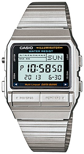 Casio DB380 1 Silver Stainless Steel Digital