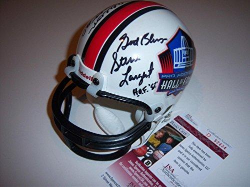 Signed Steve Largent Mini Helmet - deacon Jones coa - JSA Certified - Autographed NFL Mini Helmets ()
