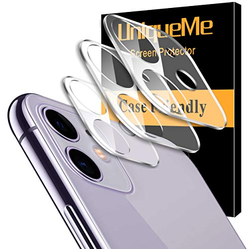 [ 3 Pack] UniqueMe Camera Lens Protector for iPhone 11 Tempered Glass [New Version] Add Cameras Flash Circle from UniqueMe