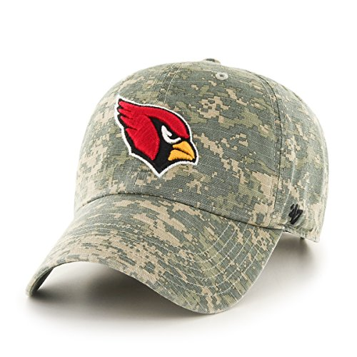 '47 NFL Arizona Cardinals Officer Clean Up Camo Adjustable Hat, One Size Fits Most, Digital (Cardinals Camo)