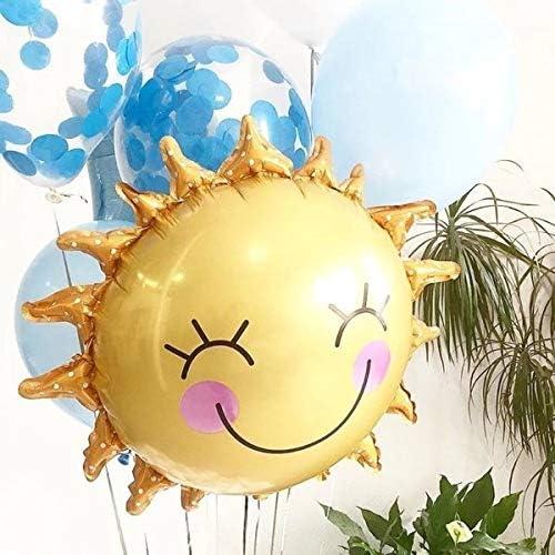 誕生日 飾り付け 風船 太陽 バルーン サプライズ 誕生日プレゼント おひさま SUN パーティー 結婚式 お祝い 撮影 ぺたんこ配送