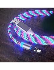 Eihan Glowing Magnetische 3-in-1 USB-laadkabel, snellaadkabel, compatibel met alle telefoons