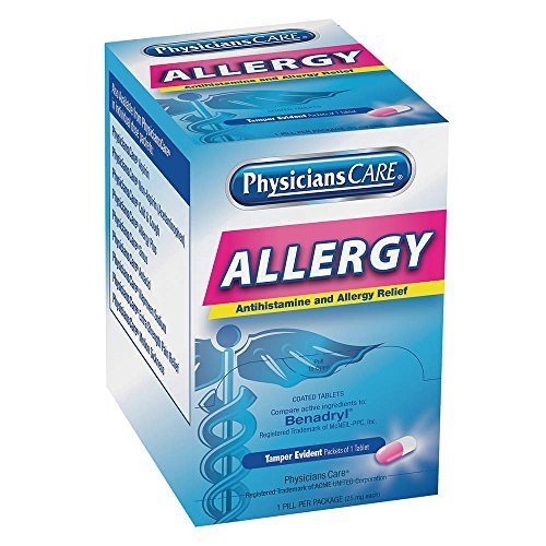 PHYSICIANSCARE Allergy Relief, Tablet, 25mg, PK50