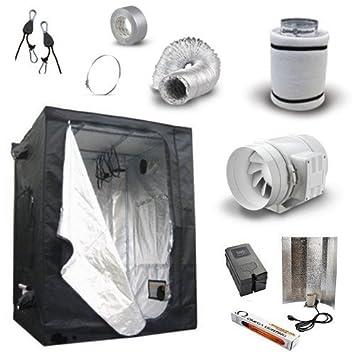 Hydroponics Grow Room Tent Kit - 60x60x140 Senua Tent 4u0026quot; TT Fan 400w  sc 1 st  Amazon UK & Hydroponics Grow Room Tent Kit - 60x60x140 Senua Tent 4