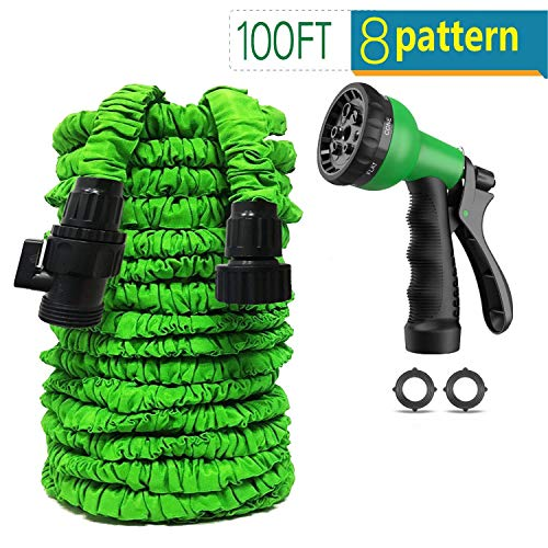 Garden Hose 100 ft Non-Kink Expandable Garden Hose with Triple Layer Latex Core 8 Function Spray Nozzle Expandable Garden Hose for Garden House Car Pet All Your Watering Needs