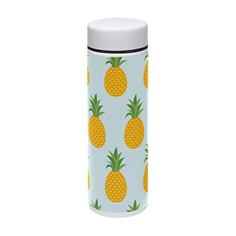 995d720854 senya Pineapples Summer Water Bottle Stainless Steel Vacuum Insulated Leak  Proof Double Walled Wide Mouth Thermos