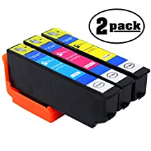 2-Pack Replacement Epson Expression Premium XP-810 Printer Cyan, Magenta & Yellow Ink Cartridge - For Epson T273XL220, T273XL420 & T273XL320 High Yield Ink Tanks (Epson 273XL)