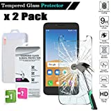 FINDING CASE 2 Pack Screen Protector For Alcatel U3 2018 Premium Tempered Glass Film Cover, 0.33mm HD 9H Hardness 2.5D…