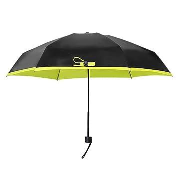 xbzz Paraguas plegable bloqueador solar vinilo 50% paraguas sombrillas para doble uso pequeña ultra ligera