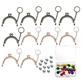 10 Pcs Metal Purse Frame with Chain for Bags,Kiss