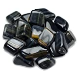 Hypnotic Gems Materials: 18 lbs Bulk Tumbled Blue Tigers Eye Stones from South Africa - Natural Polished Gemstone Supplies for Wicca, Reiki, and Energy Crystal HealingWholesale Lot