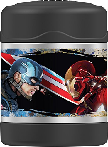 Thermos Funtainer 10 Ounce Food Jar, Captain America Civil War by Thermos