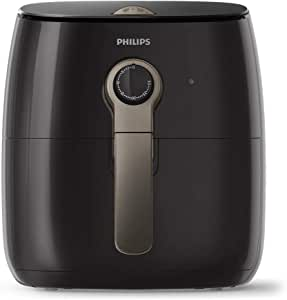 Philips Premium Air Fryer with Rapid Air Technology for Healthy Cooking, 90 Percent Less Oil, 1500 W, Black/Brown - HD9721/11 [International Version]
