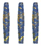JHB International 361018 Kristal Wick Batik Beauties Fabric Beads 1-1/2-Inch Blue
